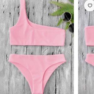 ZAFUL pink off the shoulder bikini